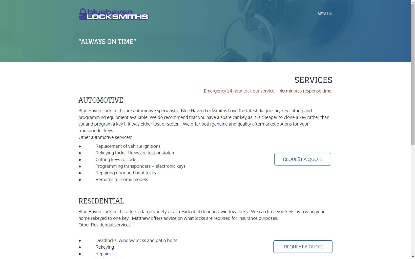 Blue Haven Locksmiths
