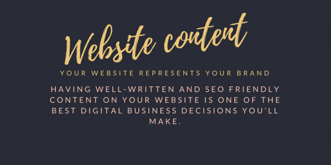 Website Content, What is it and does my website need it?